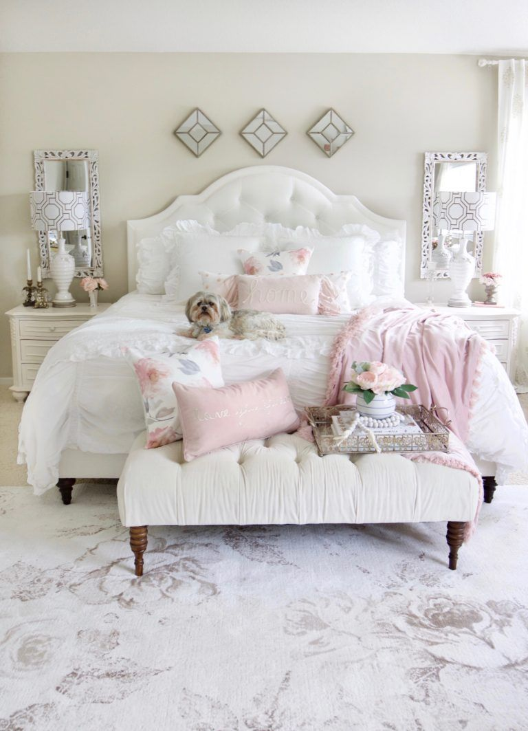 Romantic Summer Bedroom Refresh Styled With Lace Bedroom