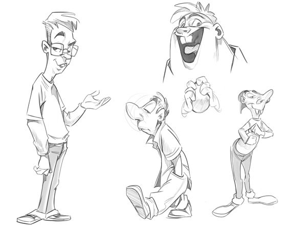 Cartoon Fundamentals How To Draw A Cartoon Body Dibujar Caricaturas Como Dibujar Personajes Dibujos