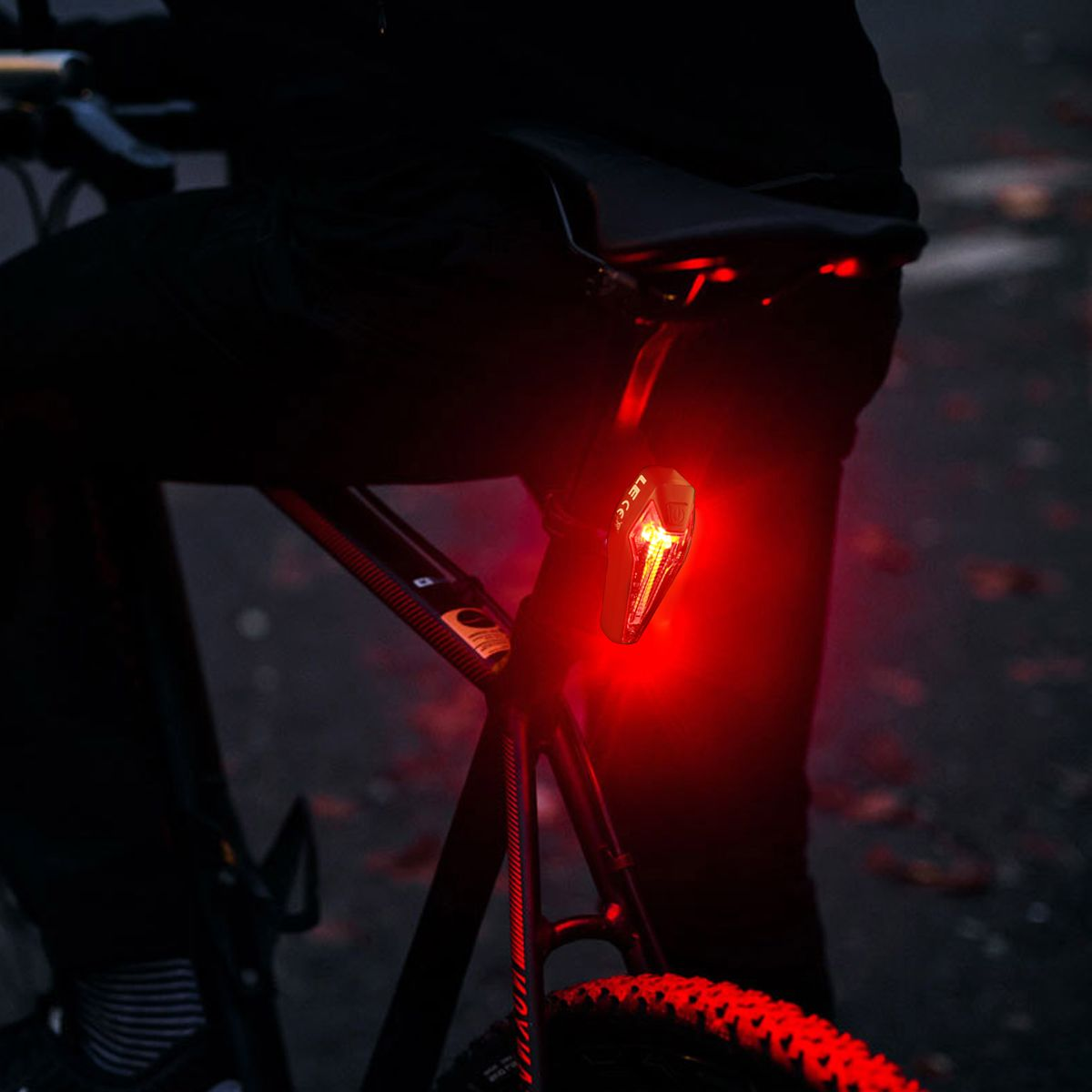 Le Usb Rechargeable Cree Led Bike Tail Lights Rear Lights Red