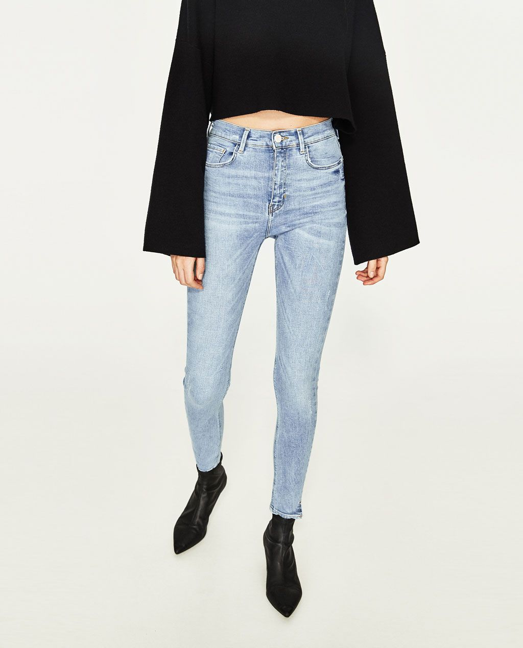 ed3a23fd HIGH-RISE CROPPED SLIM FIT JEANS-Skinny-JEANS-WOMAN   ZARA United States