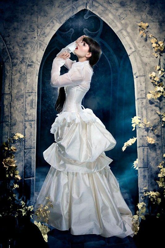 Steampunk Edwardian Wedding Dress - Elegant in Ivory - Victorian ...