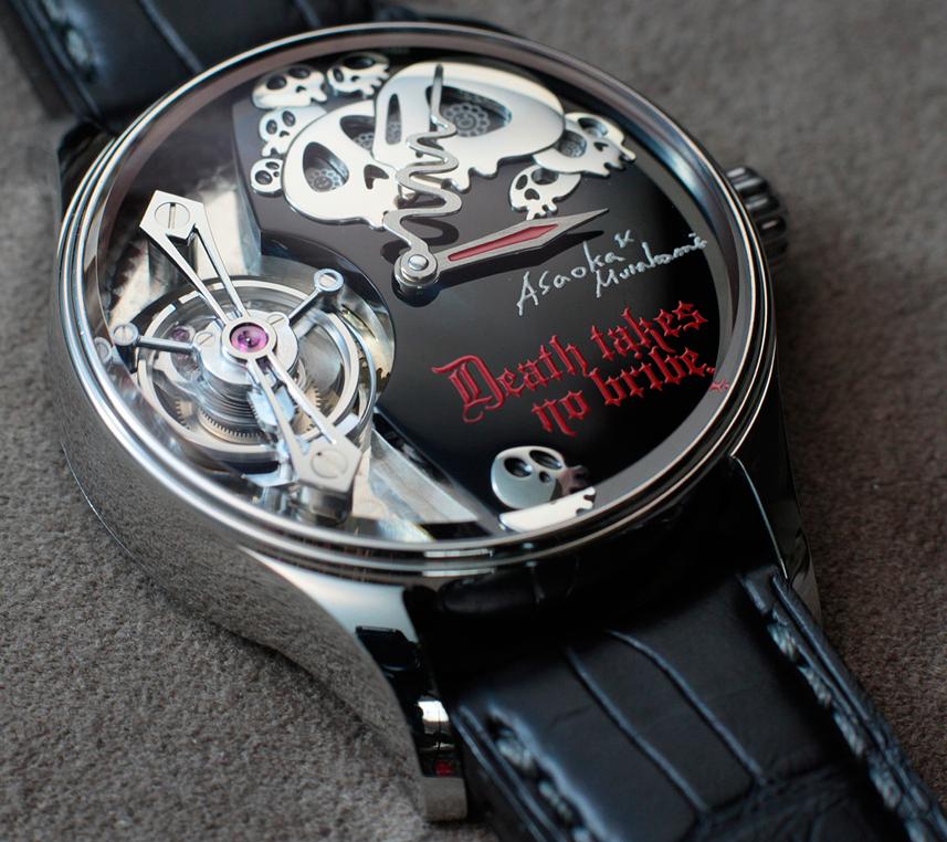 """Death takes no bribes"" says new Hajime Asaoka watch"