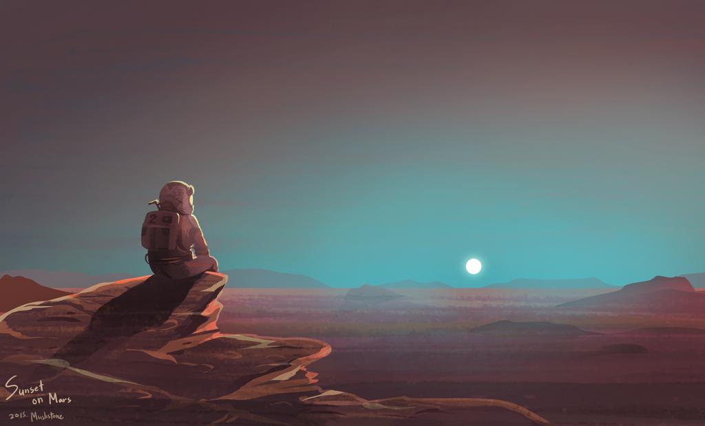 The Martian : Sunset on mars by Mushstone on DeviantArt ...
