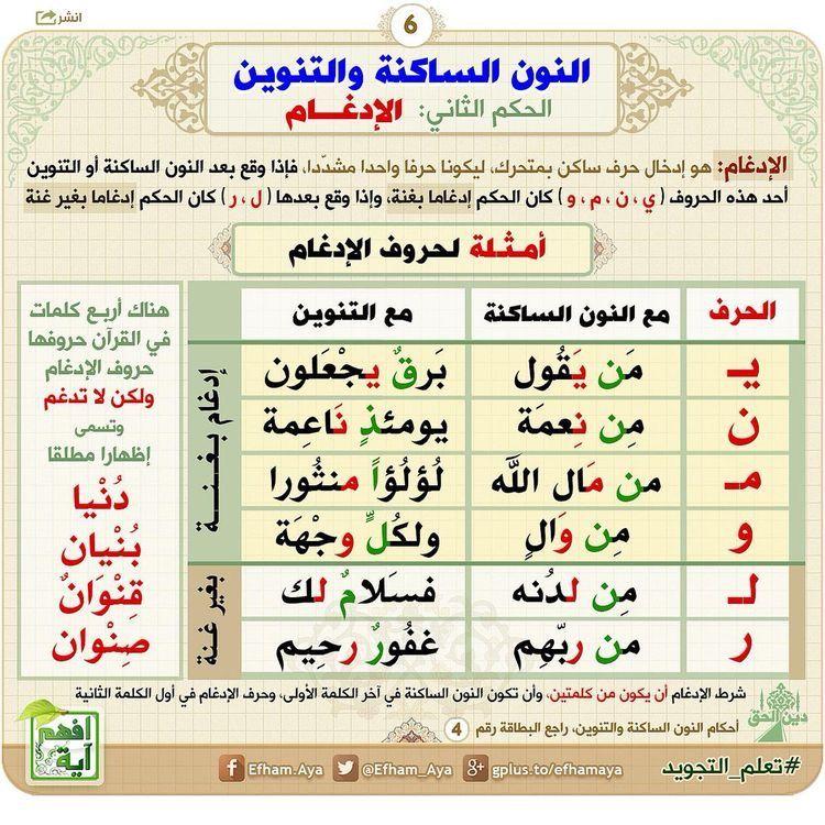 علم التجويد ٦ Learn Quran Quran Book Quran Tafseer