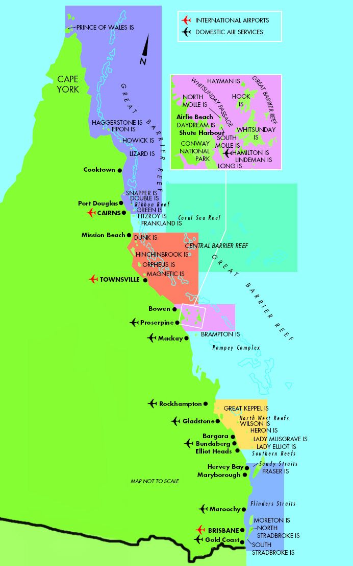 Barrier Reef Australia Map.Diving Map For Great Barrier Reef Queensland Australia New