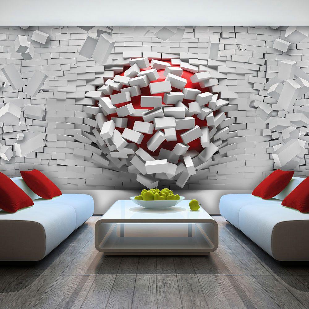Details About Wallpaper 3D EFFECT ABSTRACT BRICKS Wall