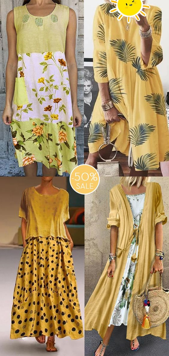 Womens casual maxi dress now 50% OFF.| Multiple colors.| Daily must-have.| SHOP NOW!
