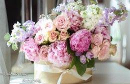 scatola fiori peonie idecoration