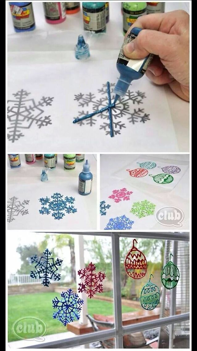 Photo of HOLIDAY PUFFY PAINT WINDOW CLINGS