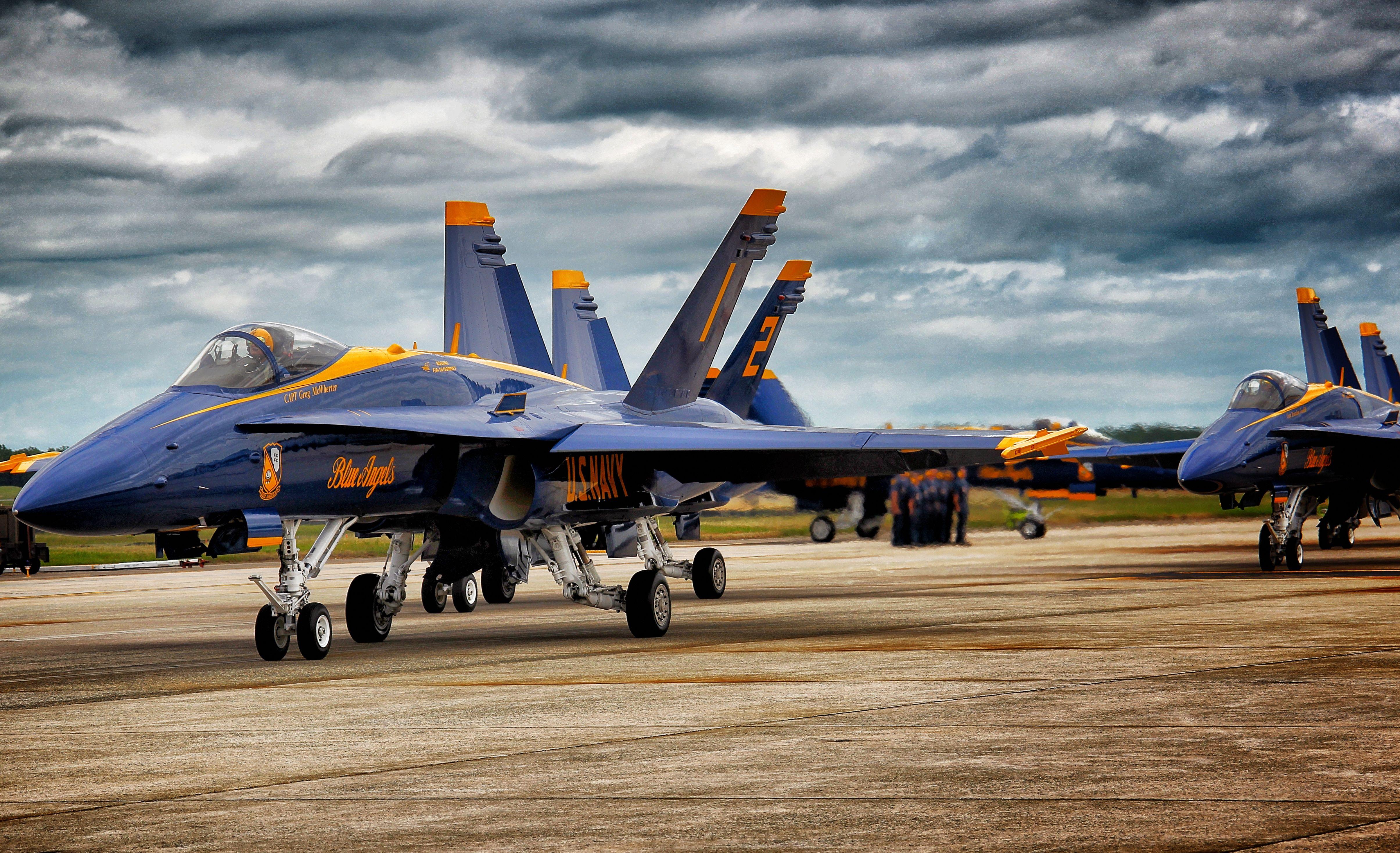 Il Capitano degli Angeli Blu Greg Mcwherter all'Aeronautica di Andrews-4630