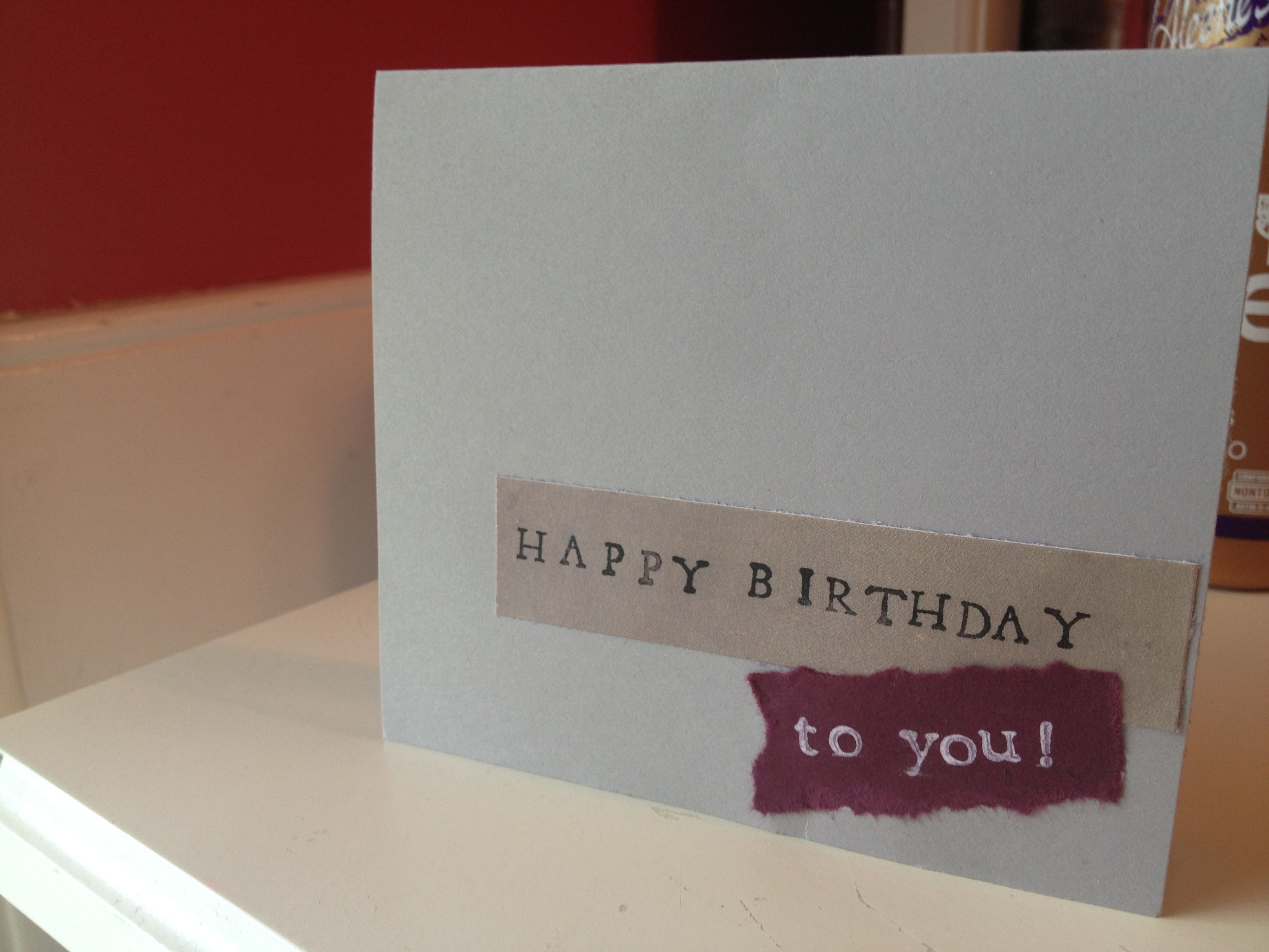 Simple handmade birthday cards google search cards pinterest simple handmade birthday cards google search kristyandbryce Gallery