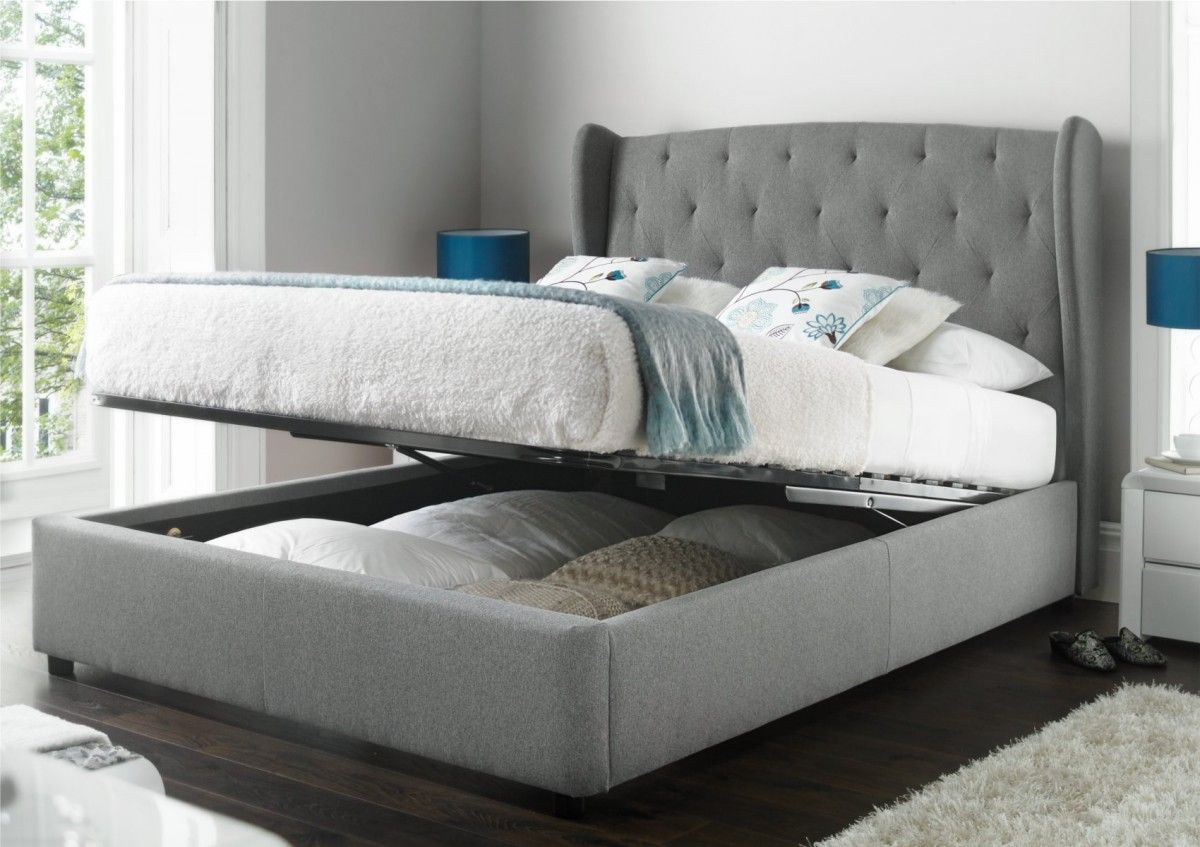 storage bed frame with headboard