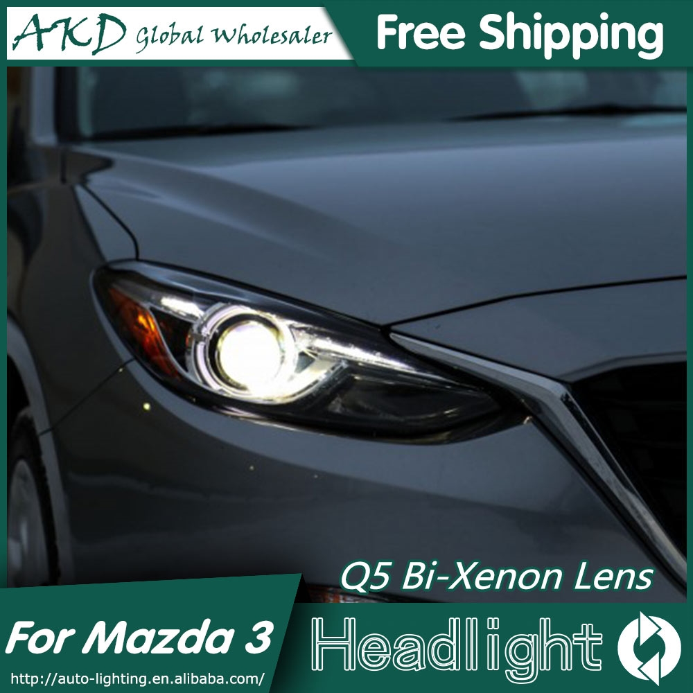 477.75$ Watch here - AKD Car Styling for Mazda 3 Headlights 2015 New