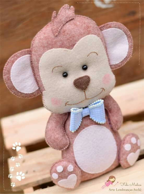 Baby monkey feltro