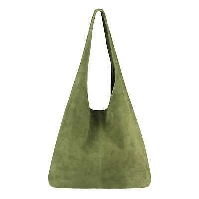 Photo of ITALy DAMEN LEDER TASCHE Handtasche Shopper Schultertasche Hobo-Bag Wildleder: E…