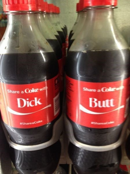 Funny Share A Coke With Names : funny, share, names, Dickbutt