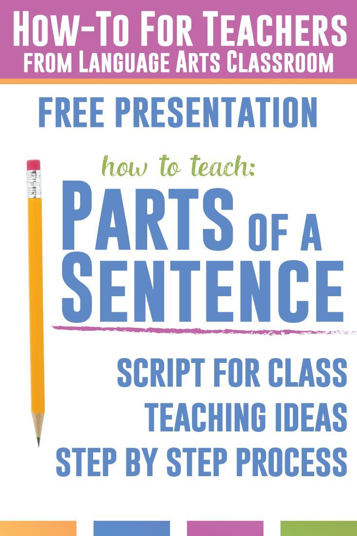Teaching Parts Of A Sentence But Don T Know Where To Start This