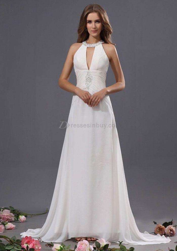 Halter Top Wedding Gowns | Home > Wedding Dresses > Beach Wedding ...