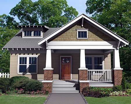 Plan 50103ph Charming Craftsman Bungalow With Deep Front Porch Craftsman House Plans Craftsman Bungalows House Plans
