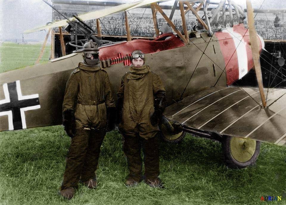German pilot Richard Scholl and his co-pilot Lieutenant ...