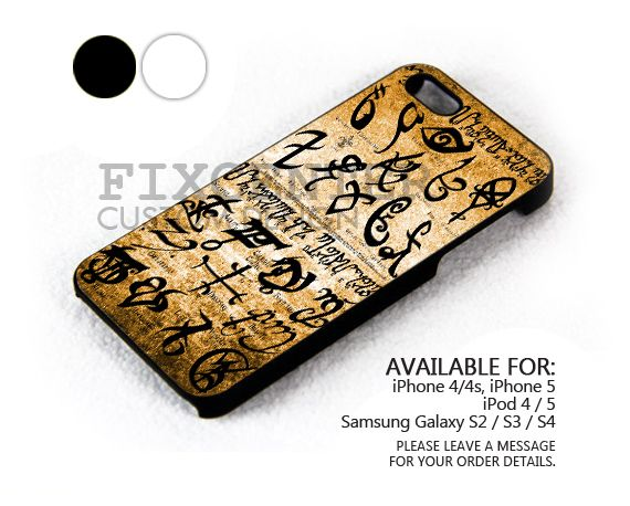Mortal Instrument Symbol Case For Iphone 44s5 Ipod 45 Galaxy S2