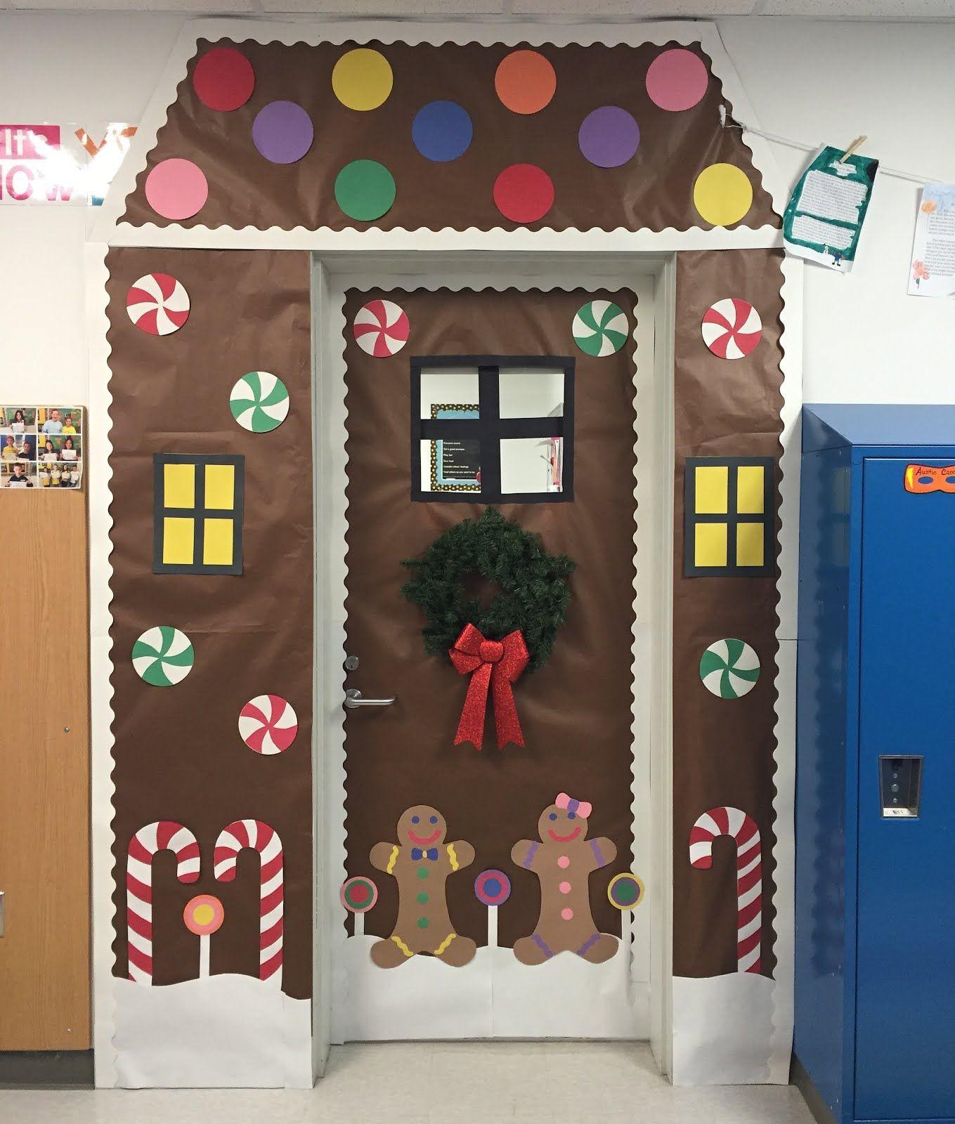 Unique Simple Hall Decoration Ideas: Creative Elementary School Counselor: Winter Door