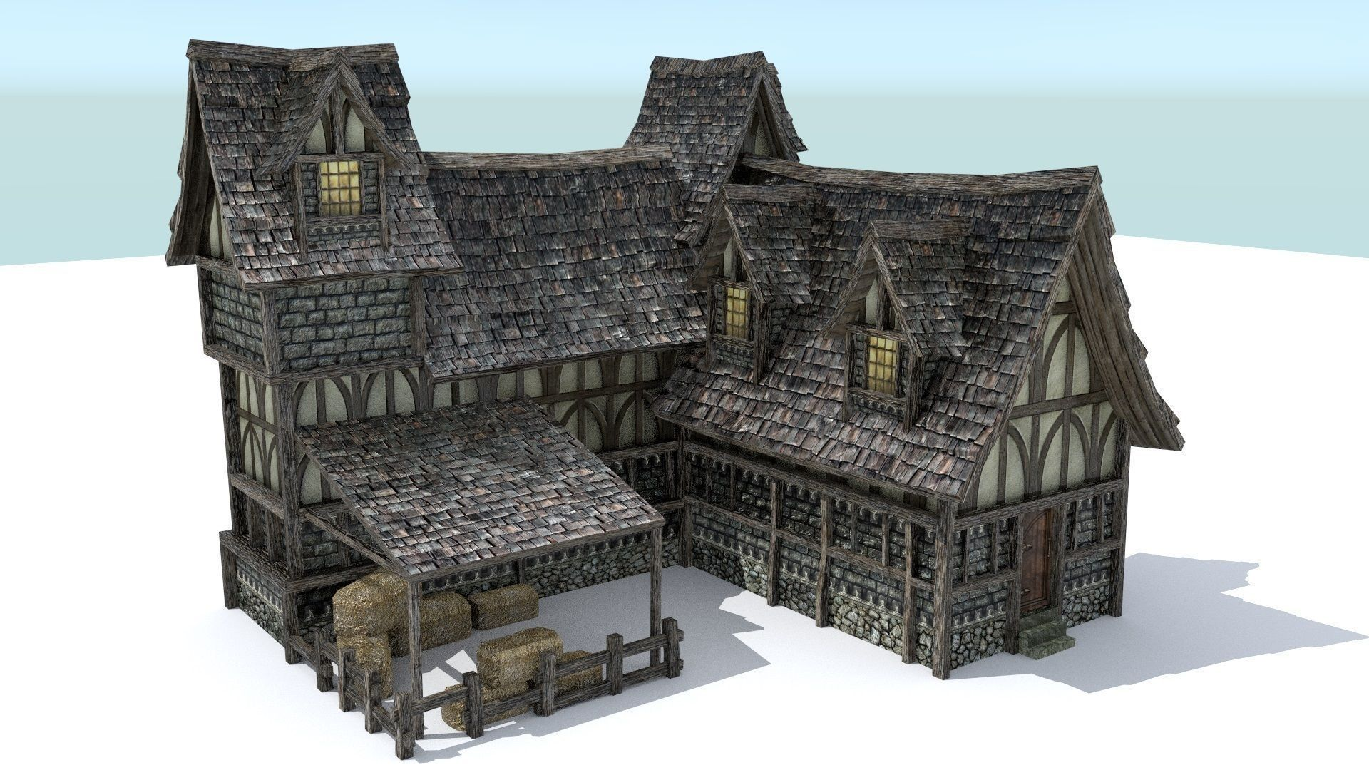 Medieval Inn Décor Médiévale Architecture Et Batiment