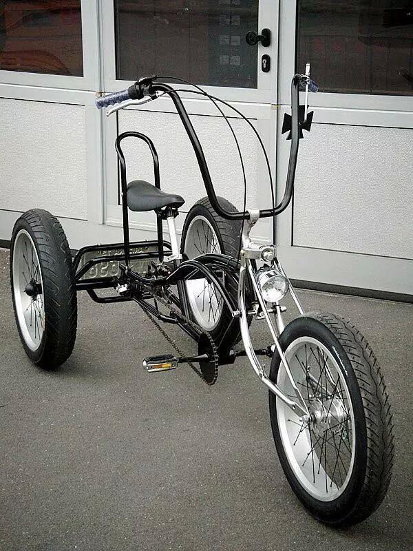 trike bike caf racer scrambler dreirad coole. Black Bedroom Furniture Sets. Home Design Ideas