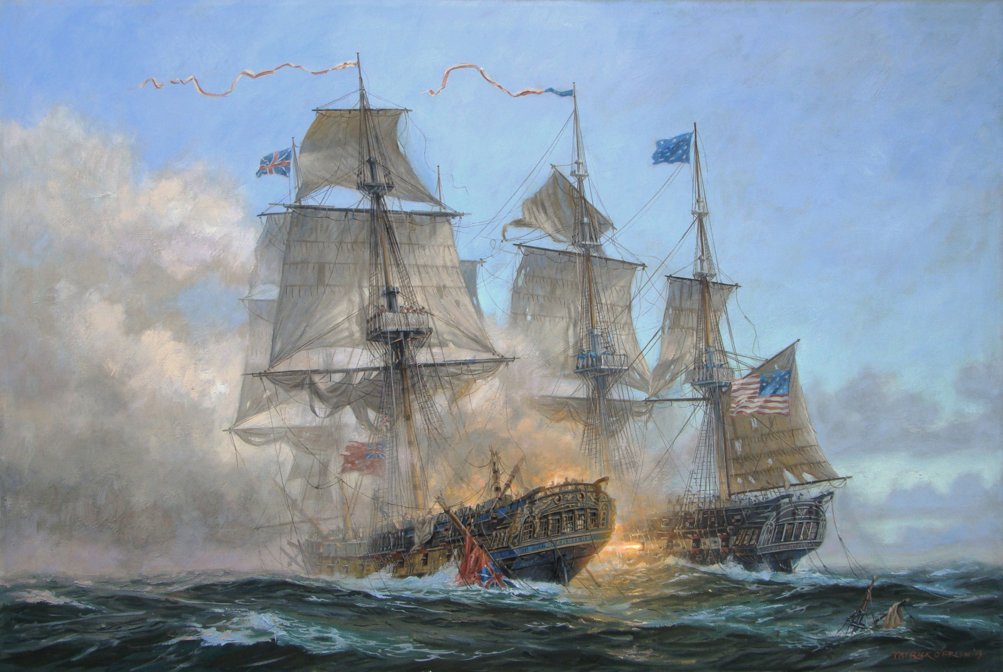 Image result for images of uss constitution in battle