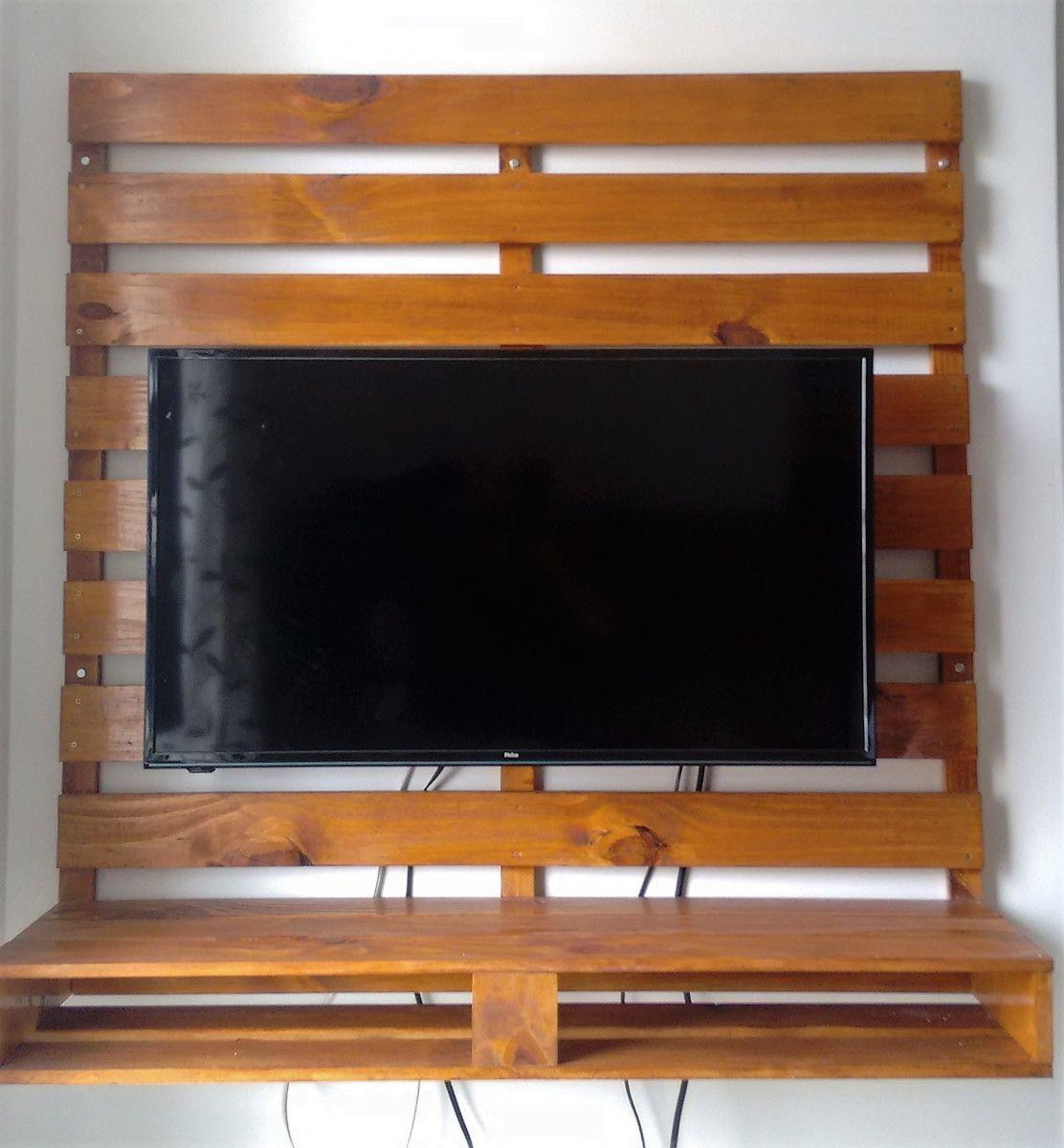PAINEL PARA TV *Feito com madeira pinus, reaproveitamento de palets ...