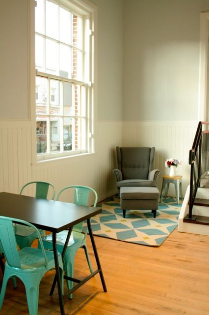 Can't wait to work on my knitting, or read a book in this cool corner of Carnegie Coffee Co.
