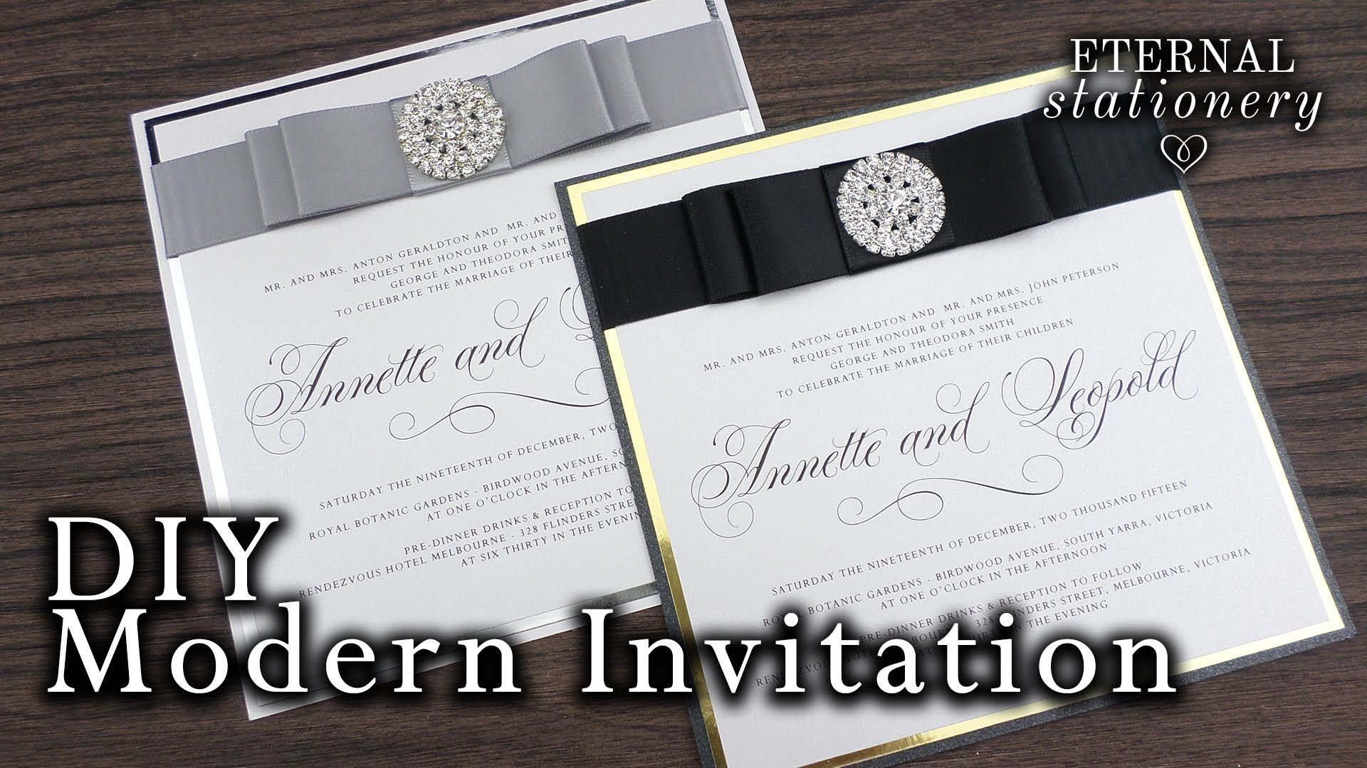 How to make elegant modern wedding invitations   DIY invitation ...