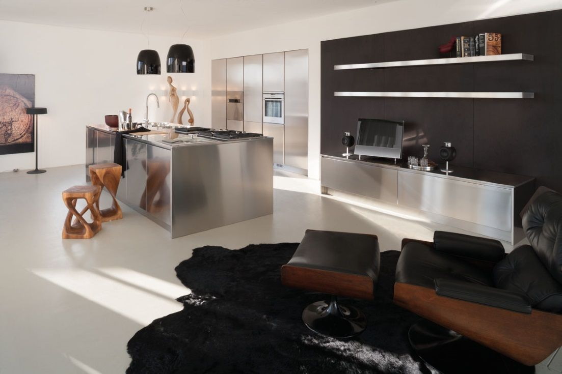 Square Inox |Design Centro Studi Xera. Cucina in acciaio inox con ...