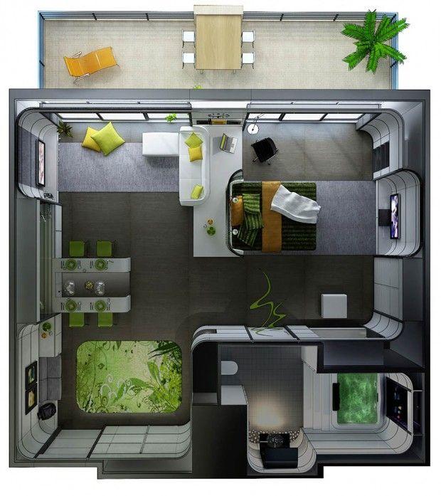 30 studio apartment plan - Wie Man Ein Kleines Studioapartment Einrichten Kann