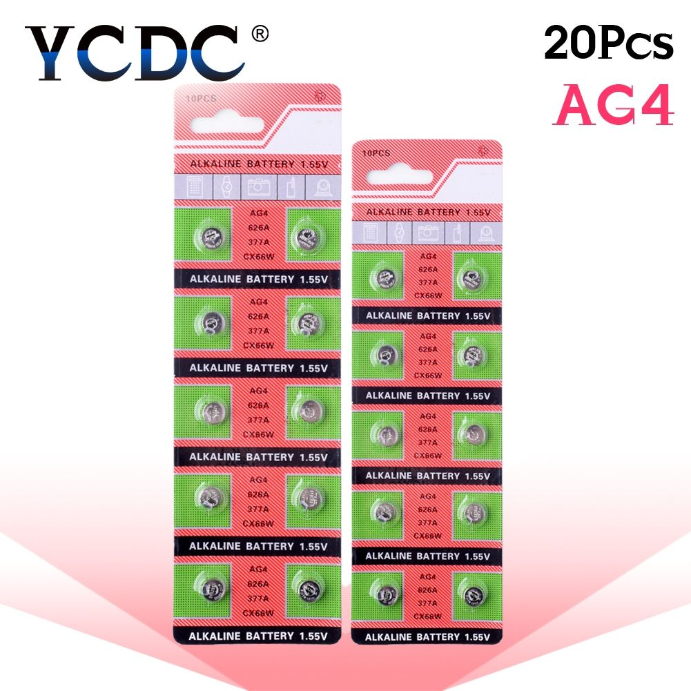 Ycdc 49 Off Vente 20 Pcs 1 Pack 100 D Origine 377 Sr626sw 626 Sr626 V377 Ag4 Montre Batterie Bouton Pile Made Alkaline Battery Button Cell Lithium Battery