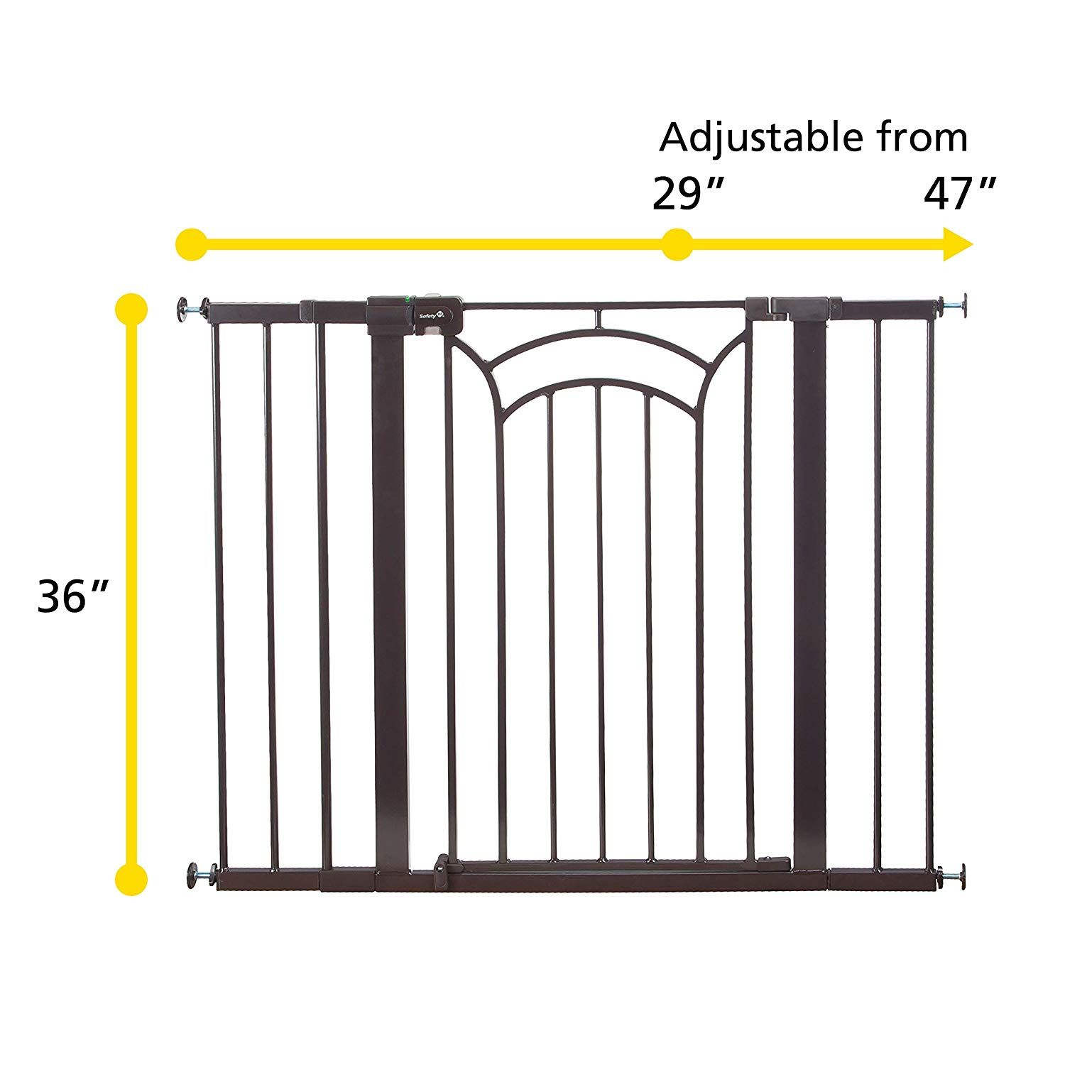 Safety 1st D cor Easy Install Tall Wide Baby Gate with