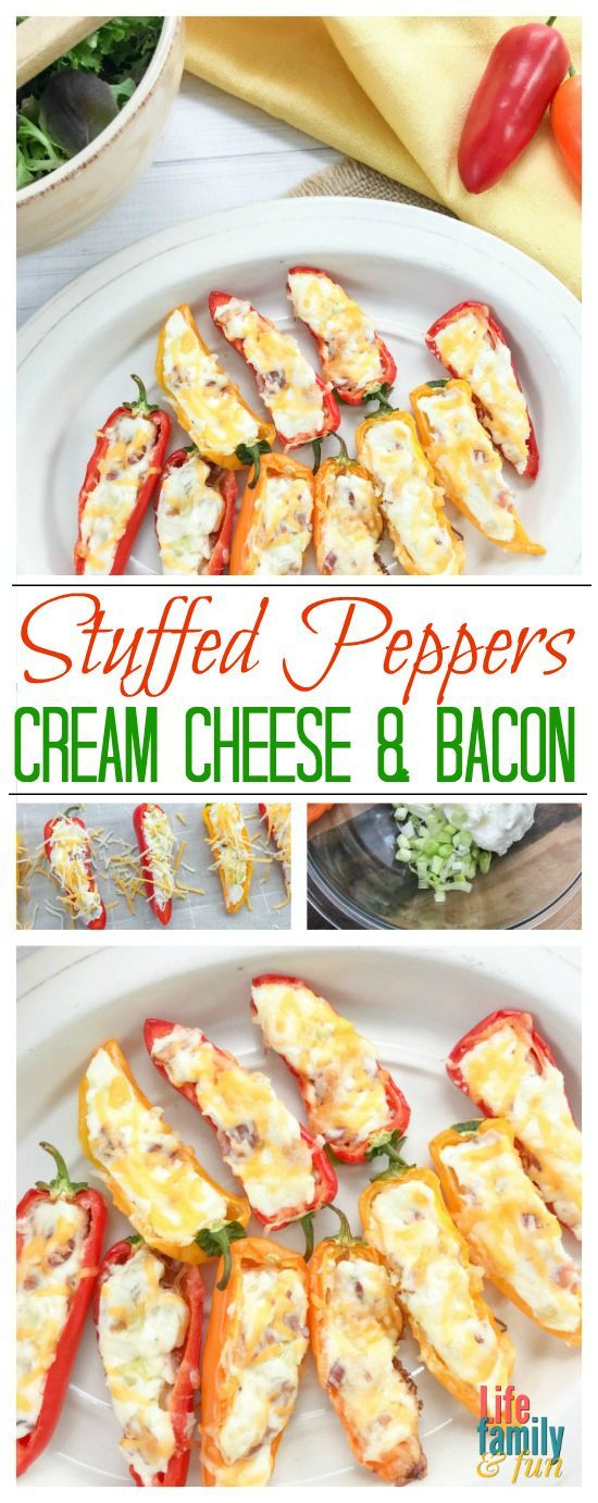 Cream Cheese Stuffed Peppers With Bacon - Perfect GameDay Appetizer!