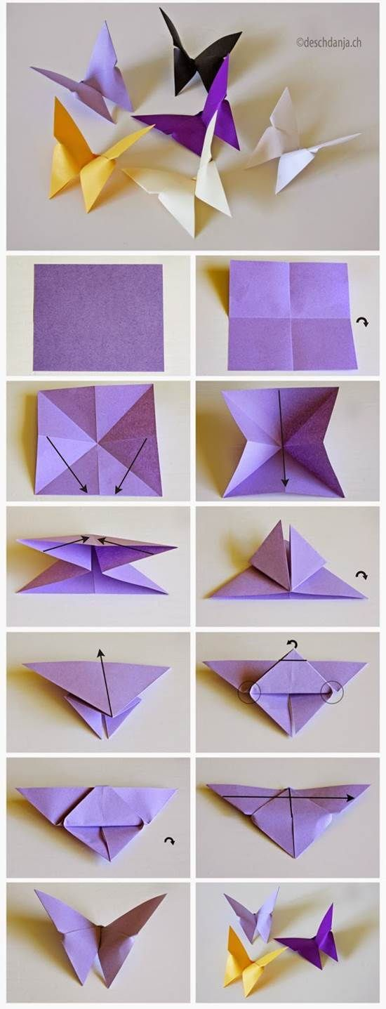 How To Diy Origami Butterfly Activite Manuelle Origami