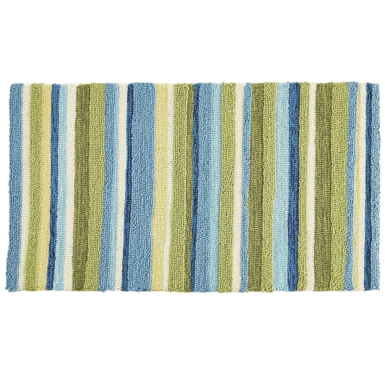 Striped Kitchen Rug Freestanding Pantry Cloud Step Stripe Memory Foam 2x3 Blue Decor