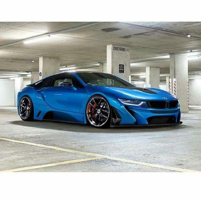 BMW I8 Blue Slammed