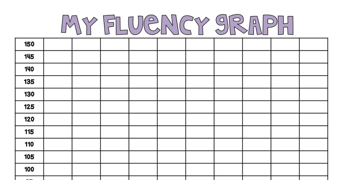 My Fluency Graph Pdf Fluency Graphs Fluency Graphing