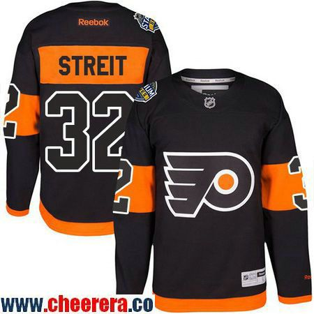 Men's Philadelphia Flyers #32 Mark Streit Black 2017 Stadium Series  Stitched NHL Reebok Hockey Jersey