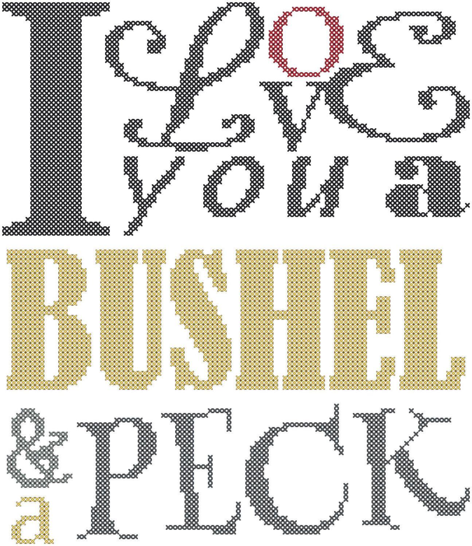 I Love You A Bushel And A Peck And A Hug Around The Neck