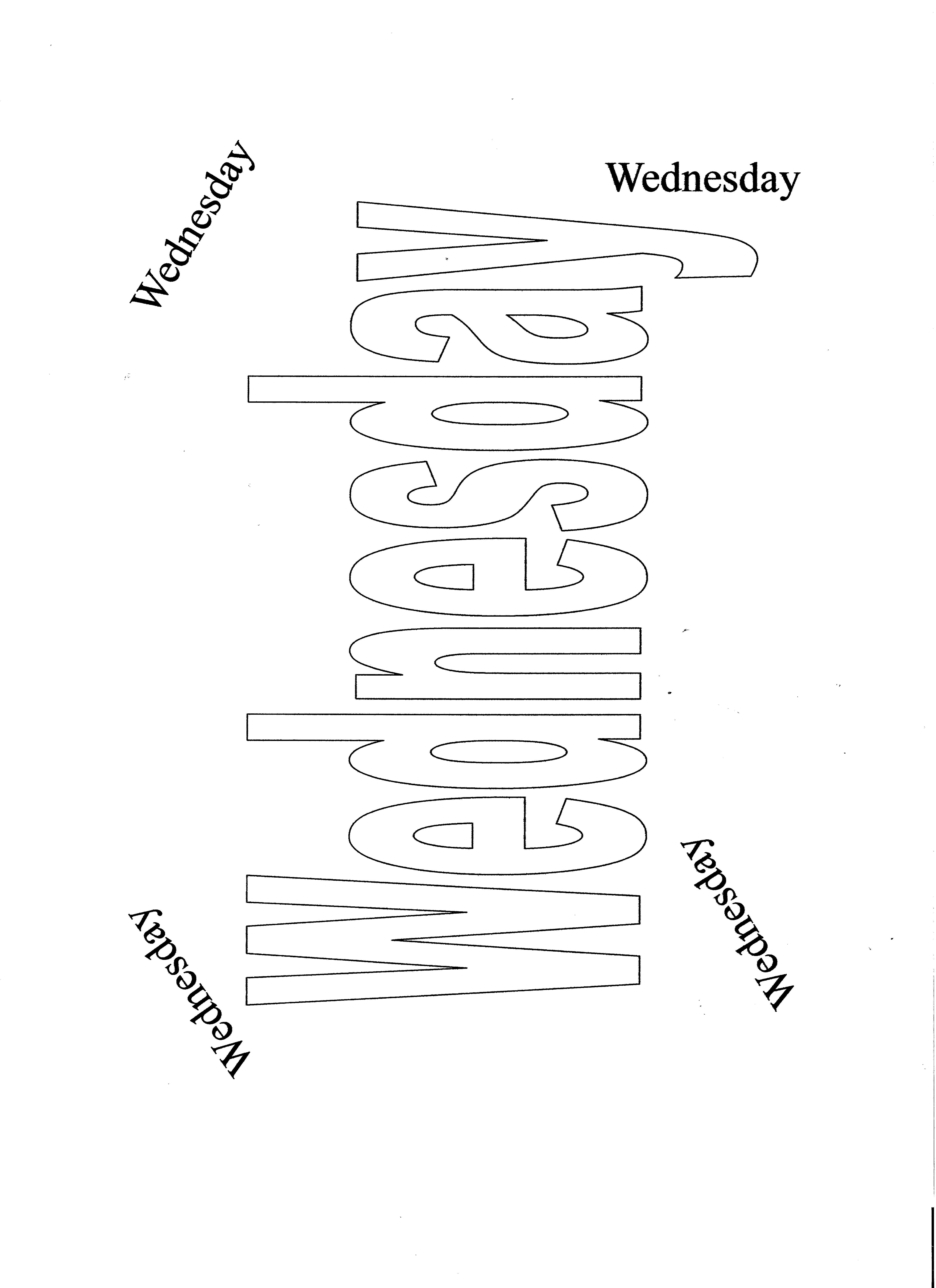 Day S Of The Week Coloring Sheets