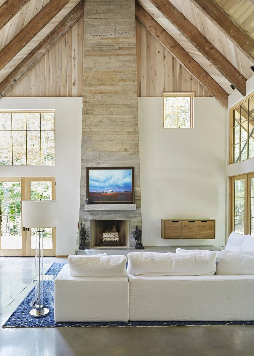 A Modern Farmhouse CuttingEdge Style Meets Artisan Craftsmanship is part of Industrial Living Room Concrete - With forwardthinking design minds at the helm, this singular home is an eclectic mashup of ancient building techniques and modern materials