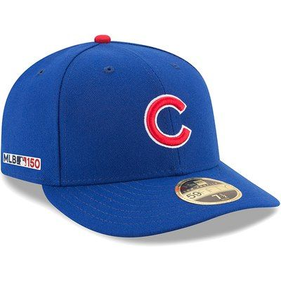 meet a9f41 6e186 Men s New Era Royal Chicago Cubs MLB 150th Anniversary Authentic Collection  Low Profile 59FIFTY Fitted Hat