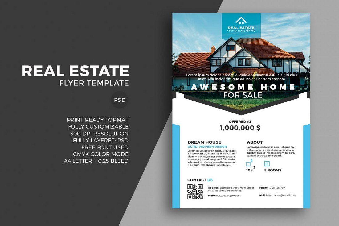 20 Best Real Estate Flyer Templates Real Estate Flyer Template Flyer Template Brochure Template Psd Commercial real estate brochure template