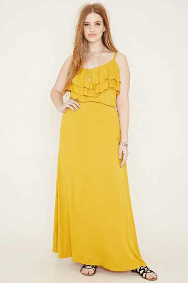80084bf33f87 This sunny yellow ruffled maxi. | 38 Plus Size Dresses You'll Want To Wear  All Summer