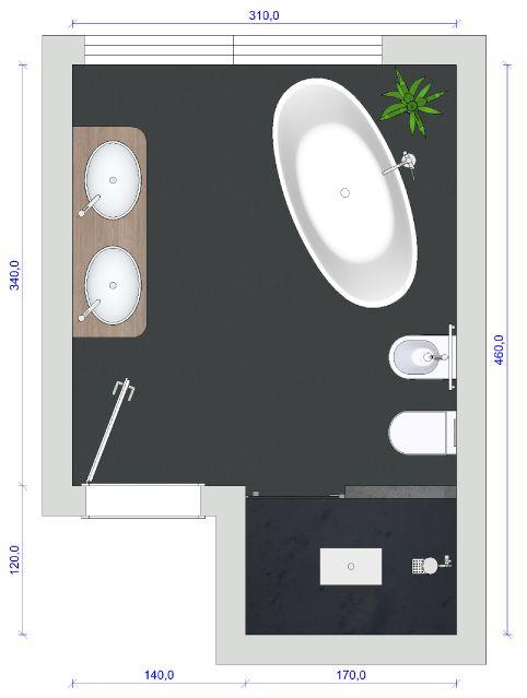 bad mit freistehender badewanne gut geplant bad pinterest. Black Bedroom Furniture Sets. Home Design Ideas