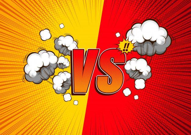 Versus vs, combattez le fond comique. Ve... | Premium Vector #Freepik #vector #cadre